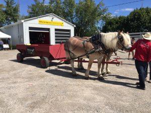Corporate event wagon ride